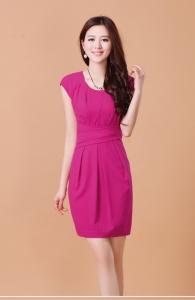 Áo kiểu YH134 : Áo ren hoa hồng ngắn tay